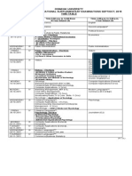 OU Degree I II III Year Supply Exam Time Table 2015