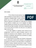 Petición PSOE Red Ciudades Acogida Refugiados Granada
