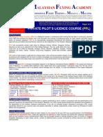 Prospectus PPL Without Course Fees Details