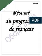 Resumé Du Programme de Francais