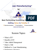 JIT & Lean Manufacturing - ADDVALUE - Nilesh Arora