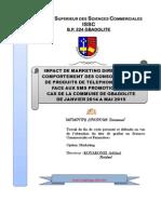 Impact de marketing direct sur le comportement des consommateurs de produits de téléphonie mobile face aux SMS promotionnels, cas de la commune de Gbadolite de Janvier 2014 à Mai 2015