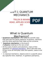 Unit-1 Quantum Mechanics