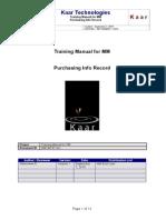 Create Info Record