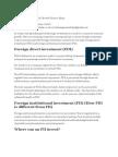 Role of FDI in Industrial Growth Finance Essay