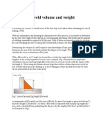 Calculating Weld Volume and Weight