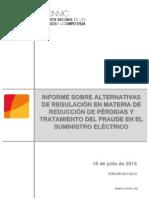 Informe sobre Alternativas de Regulación en Materia de Reducción de Pérdidas y Tratamiento del Fraude en el Suministro Eléctrico