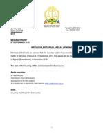 MEDIA ADVISORY_Appeal_Oscar Pistorius Matter_7 Sept 2015