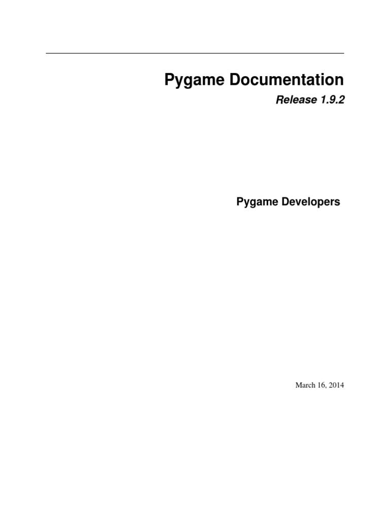 pygame | Rgb Color Model | Parameter (Computer Programming)