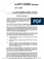 2003 AO 6 Rules and Procedures Governing Leasehold Implementation on Tenanted Agricultural Lands