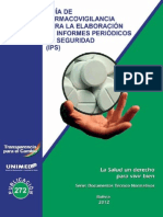 Guia de Farmacovigilancia Para La Elaboracion de Informes Periodicos