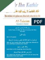 Tafsir ibn Kathir - 066 Tahrim