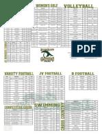 Fall Sport Schedule 2015