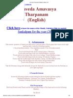 Amavasya Tharpanam (English)-Vadhyar