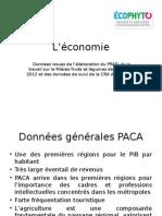 Données sur l'économie de la filière fruits et légumes de la CRA en 2012