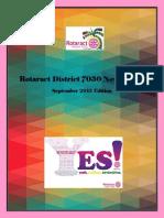 District Newsletter September 2015 (English)