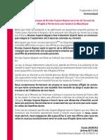 CP - Les propos de Nicolas Dupont-Aignan vis-à-vis de l'accueil de réfugiés à Yerres sont une insulte à la République