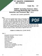 ugc-net jrf management syllabus