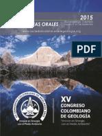MEMORIAS XVCCG2015 CONGRESO COLOMBIANO DE GEOLOGIA