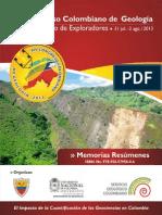 Memorias Concolgeo XIV congreso colombiano de geologia