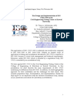 The Design and Implementation of ISO 17025 in the Civil Engineering Testing Cneter