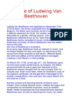 The Life of Ludwing Van Beethoven