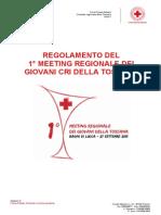 Regolamento 1° meeting regionale Giovani CRI Toscana