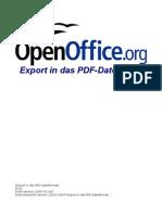 OpenOffice - Export in das PDF-Dateiformat