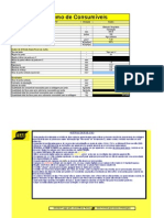 Cálculo-Solda v Consumo de Eletrodo Revestido 7018-4mm