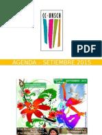 - Agenda – Septiembre 2015