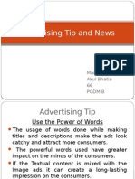 Advertising Tip and News
