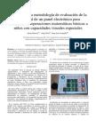 Diseño de una metodología de evaluación de la usabilidad de un panel electrónico para enseñanza de operaciones matemáticas básicas a niños con capacidades visuales especiales
