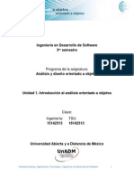 Unidad 1. Introduccion Al Analisis Orientado a Objetos