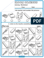 Classroom Objects Maze