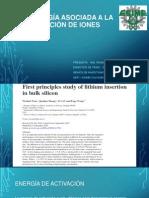 Energía Asociada a La Inserción de Iones