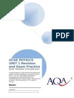 Gcse Physics Unit 1 Revision