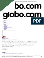 G1 - Testes de Ortografia e Redação Eliminam Candidatos a Estágio - Notícias Em Concursos e Emprego