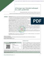 Predicción de Laringoscopía Difícil. Puntuación de Mallampati Extendida Versus MMT, ULBT y RHTDM
