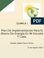 Quimica 1 Plan de Implementación Franco Ponce...