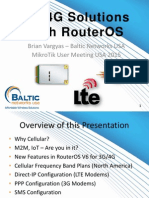 3G & 4G Solutions With RouterOS