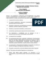 Reglamento de Construcciones y Normas Tecnicas Para El Munic