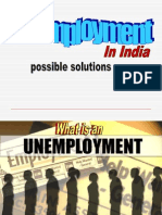 unemployment in India &solutions