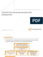 Income From Personal Services and Employment