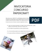 Convocatoria Concurso Papercraft