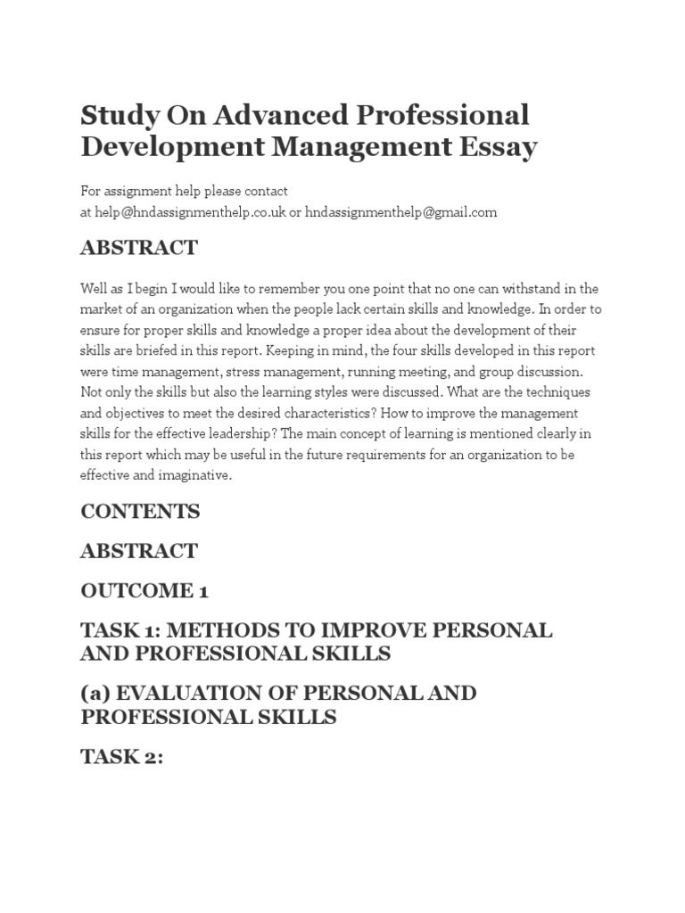 English Composition Essay Examples Study On Advanced Professional Development Management Essay  Leadership   Mentoring  Leadership Modest Proposal Essay Ideas also High School Essays Samples Study On Advanced Professional Development Management Essay  Essay In English For Students