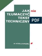 Voellnagel, Andrzej - Jak Nie Tłumaczyć Tekstów Technicznych – 1980 (Zorg)