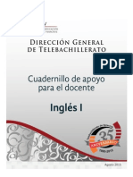 Cuadernillo de Apoyo Para El Docente. Inglés i