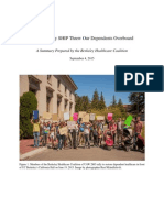 Berkeley Healthcare Coalition Research Summary September 2015