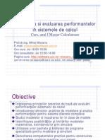 Modelarea si evaluarea performantelor