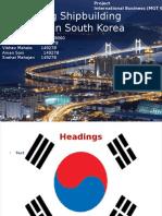 Analysing Shipbuilding Industry in South Korea